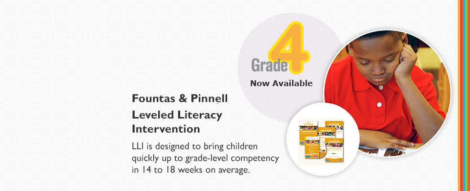 LLI Grade 4: Leveled Literacy Intervention Grade 4 Gold System Levels O - T now available!