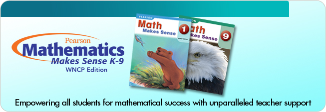 Pearson School Canada Math Makes Sense Pearson WNCP Edition K9 – Math Makes Sense 7 Worksheets