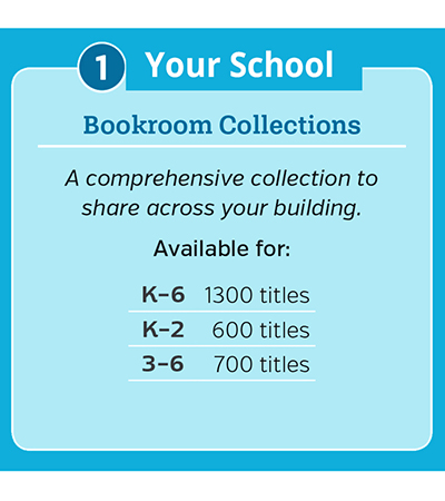 1. For your school: Bookroom Collections. A comprehensive collection to share across your building.